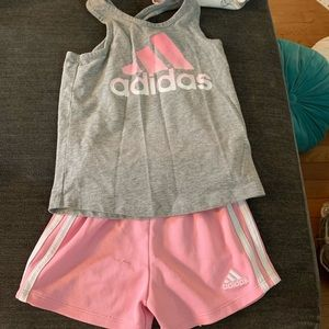 Adidas Shorts and Tank Outfit